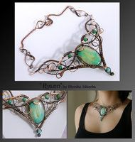 Ryann- wire wrapped copper necklace by mea00