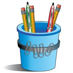 Organization Tip: paper clips    Make piles of jumbled paper clips a thing of the past! Attach a strip of magnetic tape around a pencil cup. Then place separate paper clips on the tape. Whenever you need a paper clip, it will be right at your fingertips!