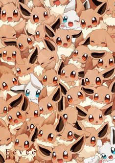 Pokémon Eevee : Illustration Description Eevee and all her evolutions are my favorite line of Pokemon ever >.< Hoping they add more in Sun and Moon. I pray for Dragon, or Ghost. Pokemon Poster, Gif Pokemon, Cosplay Pokemon, Mega Pokemon, Pokemon Pins, Pokemon Memes, Pokemon Fan Art, Pokemon Tattoo, Shiny Eevee