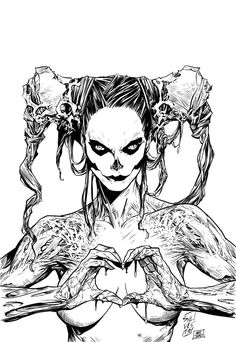 killjoy by matt james Digital Painting Techniques: Volume Practical Techniques of Digital Art Masters Bd Art, Character Art, Character Design, Digital Ink, Digital Comics, Zombie Art, Arte Horror, Gothic Art, Skull Art