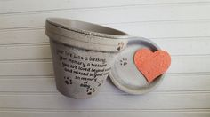 Personalize your pet memorial gift with your wording and colors at HappyMooseGardenArt.Etsy.com