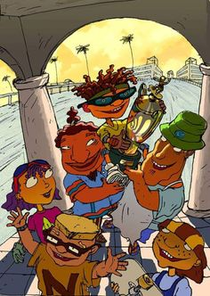'Rocket Power' aired for the first time 16 years ago today. Nickelodeon Cartoons, Retro Cartoons, Classic Cartoons, Cartoon Kunst, Cartoon Tv, Cartoon Shows, Cartoon Drawings, Cat Dog Cartoon, Rocket Power