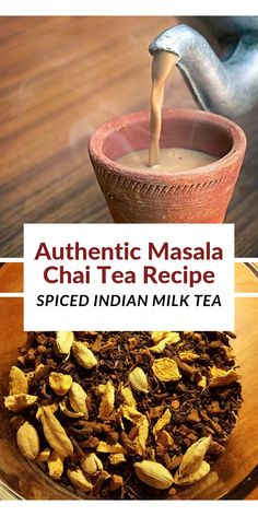 Authentic Masala Chai Tea Recipe – Spiced Indian Milk Tea Indian chai tea is a delicious sweet be Masala Chai, Chia Tea Recipe, Chai Spice Mix Recipe, Best Chai Tea Recipe, Chai Spices Recipe, Chai Milk Tea Recipe, Spiced Chai Latte Recipe, Cardamom Tea Recipe, Chai Tea Concentrate Recipe