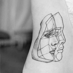 small abstract tattoos for men - abstract tattoos men small . small abstract tattoos for men Line Tattoos, Body Art Tattoos, Sleeve Tattoos, Cool Tattoos, Tatoos, Geometric Face, Small Geometric Tattoo, Geometric Tattoo Face, Tattoo Abstract