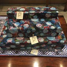 Caixas artesanais revestidas em tecido