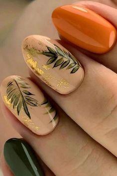 Stylish Nails, Trendy Nails, Cute Nails For Fall, Gel Nails For Fall, Nail Ideas For Fall, Shellac Nails Fall, Nagellack Design, Autumn Nails, Fall Nail Art Autumn