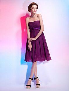 NICOLETTE - kjole til cocktail i chiffon og satin – DKK kr. 606
