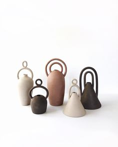 ceramic 'Symbol Vases' by Nicolette Johnson Ceramic Vase, Ceramic Pottery, Porcelain Vase, Fine Porcelain, Earthenware, Stoneware, Keramik Design, Decor Scandinavian, Special Symbols