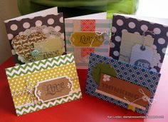 Stampin' Up! cards made with the Everyday Occasions Card kit (134797). Order Online: essentials.stampinup.net