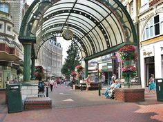 Bournemouth town centre. Southwest England
