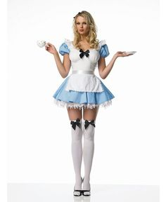 Alice Cosplay, Alice Costume, Cosplay Dress, Costume Dress, Cosplay Costumes, Sexy Outfits, Girl Outfits, Dress With Stockings, Opaque Stockings