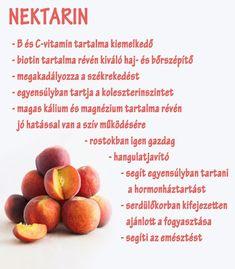 Életmód cikkek : Nektarin  Zöldség és gyümölcsök hatásai Doterra, Healthy Lifestyle, Vitamins, Spices, Health Fitness, Food And Drink, Healthy Eating, Peach, Herbs