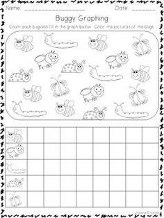 Bug Graphing from Teaching Heart's Bugs and Caterpillar