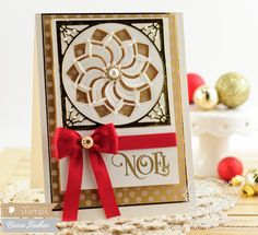 Becca Feeken: Amazing Paper Grace: Waltzingmouse Stamps - August 20-14 - Release Day - 8/27/14  (Waltzingmouse 'Tis the Season and Spellbinders Pinwheel Delight)