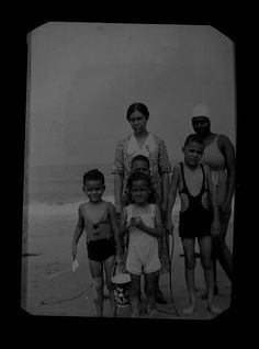 African American family at the beach