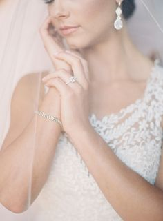 Photography : Mint Photography | Wedding Dress : BHLDN Read More on SMP: http://www.stylemepretty.com/little-black-book-blog/2015/08/12/sophisticated-chic-summer-wedding-at-eilan-hotel-spa/