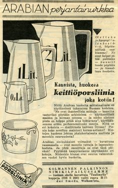 Keittiöporsliinia 50s Furniture, Old Commercials, Scandinavian Design, Finland, Retro Vintage, Nostalgia, Old Things, Fish, Times