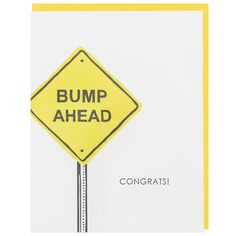 Bump Ahead Pregnancy Card
