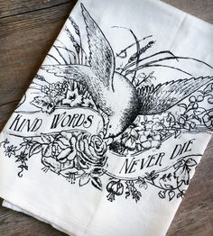 Kind Words Tea Towel - Set of 2 by The Coin Laundry on Scoutmob Shoppe. A sweet, sweet sentiment silkscreened on a cotton flour sack tea towel.