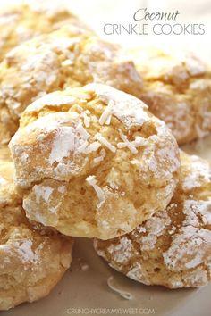 Coconut Crinkle Cookies
