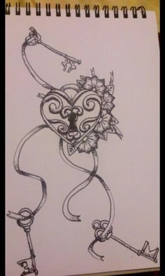 Locket tattoo - designed by Sarah-Jade. One key for each person that has unlockd my heart