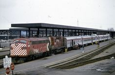 Canadian Pacific number 4074-8574 with train at Ottawa, ON. Taken - 04/1975.