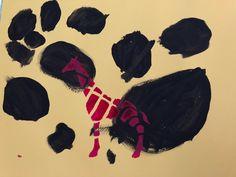 animaux de la savane la girafe peinture