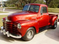 red truck!  Beautiful