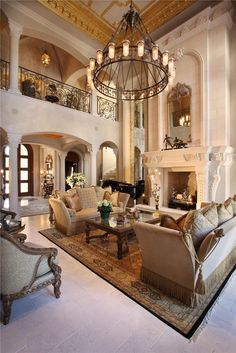 Luxurious Estate Living Room