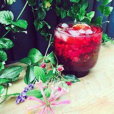 Raspberry Moon Cocktail
