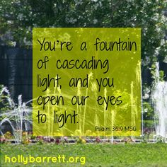 Fountain of cascading light