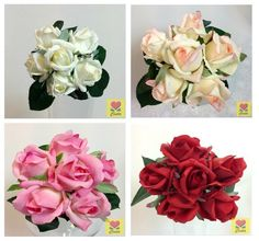 Real Touch Flower Bouquet Artificial Latex Roses cintahomedeco