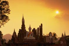 Un buda sentado Ayutthaya