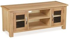 Portland Living and Dining Room Furniture Solid Oak Tv Unit, Dining Room Furniture, Multimedia, The Unit, Doors, Lights, Nice Things, Free Delivery, Portland
