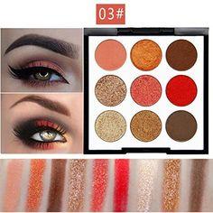 Best Pro Eyeshadow Palette Makeup - Matte + Shimmer 9 Col...