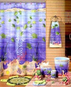 turtle shower curtain sets