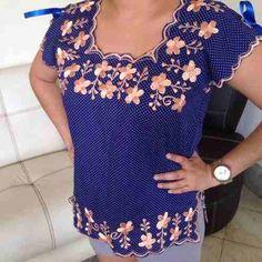 blusas bordadas tipo hipil yucatecas