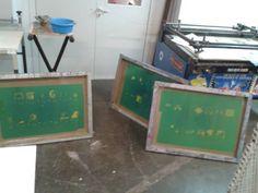 Screen Printing Process, Barcelona, Facebook, Prints, Barcelona Spain