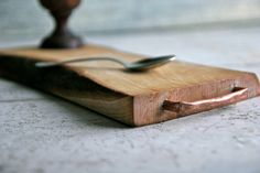 serving  Cutting board with copper handle  chopping by Lattepolon, €43.00