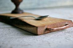 Wood Cutting Board, Chopping Board, Cheese Board, Copper Handle, Chopping Block…