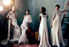 vogue photoshoot february 2013 - Marchesa Gowns