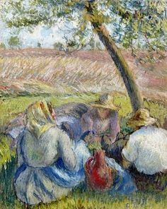 In the Wheat - Camille Pissarro - The Athenaeum