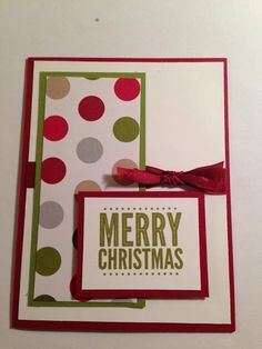 December Stamp Camp cards have been designed using a piece of 6x6 designer series paper! Pretty cool! December Stamp Camp Card #2 - Stamp Set: Merry Everything