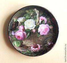 "Тарелка мини ""Корзина роз"", $19"