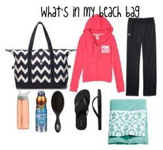 """""""What's in my beach bag 2015"""" by keileeen ❤ liked on Polyvore featuring CamelBak, Banana Boat, H&M, The Wet Brush, Tommy Hilfiger and Old Navy"""