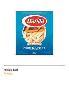 Marchio Barilla - Packaging 2010