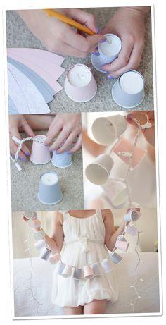 Let's Color!: * DIY | Dixie Cup Light Garland