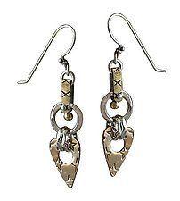 Mixed-metal Earrings by Thomas Mann
