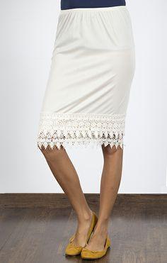 Fancy Pencil Skirt Extender Slip