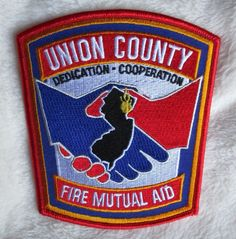 NEW JERSEY FIRE//RESCUE DEPARTMENT PATCH! UNION FIRE DEPT